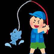 魚釣りの少年