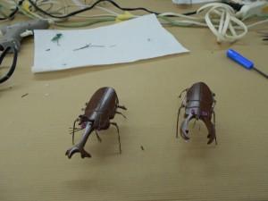 昆虫の工作の完成品